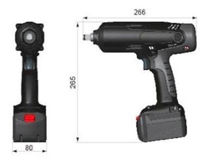 chave de impacto sem fio - 1/2  bateria 18v