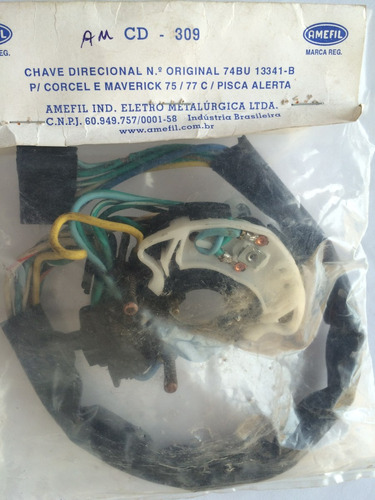 chave direcional ford corcel e maverick ano 1975 a 1977