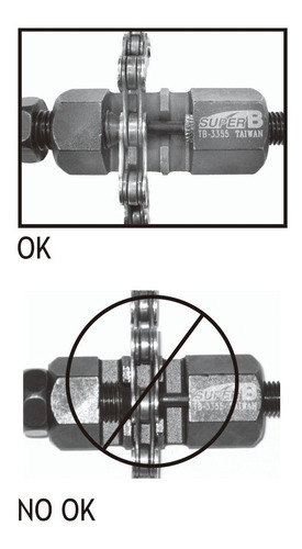 chave extrator pino de corrente super b tb-3355 mtb e speed