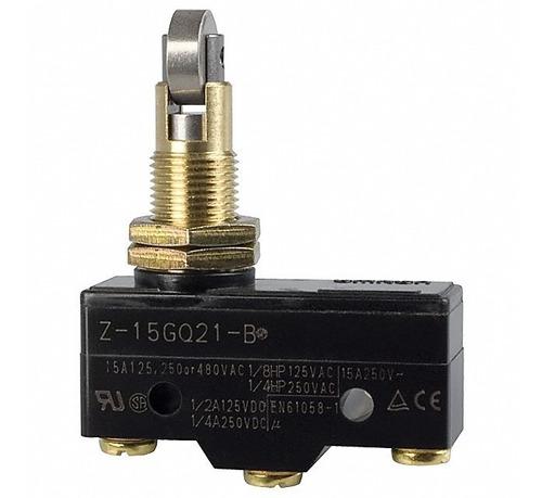 chave fim de curso micro switch z-15gq21-b roldana 15a 250v