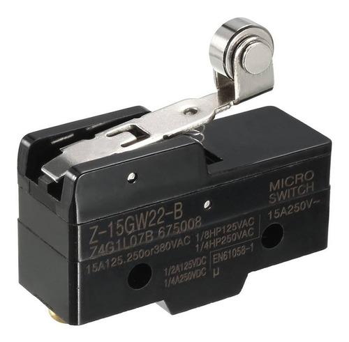 chave fim de curso micro switch z-15gw22-b roldana 15a 250v