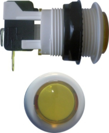 chave fliperama push botton acrilico amarelo microswitch