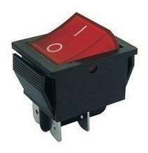 chave gangorra kcd4-201n 4t 16a /250v vermelha com 5 pçs