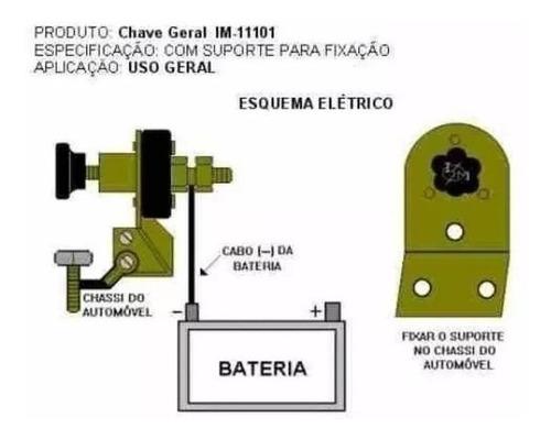 chave geral corta corrente para fusca, brasilia, variant, tl