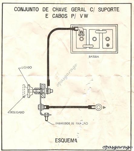 chave geral fusca dkv carro antigo antifurto nova na caixa !