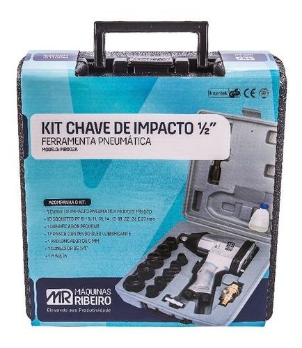 chave impacto pneumática +10 soq + extensão máquinas ribeiro