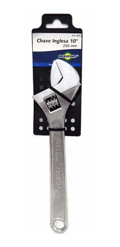 chave inglesa 10 pol. cromada 250mm brasfort