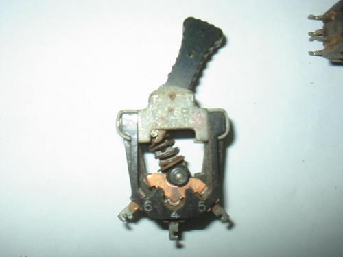 chave l/d 6 contatos antiga radio valvulado toca disco