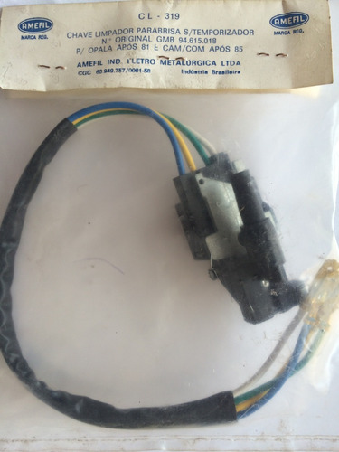 chave limpador de parabrisa sem temporizador opala após 1981