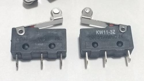 chave micro switch com roldana 17mm (kw11-3z) 5 amp = 1,50