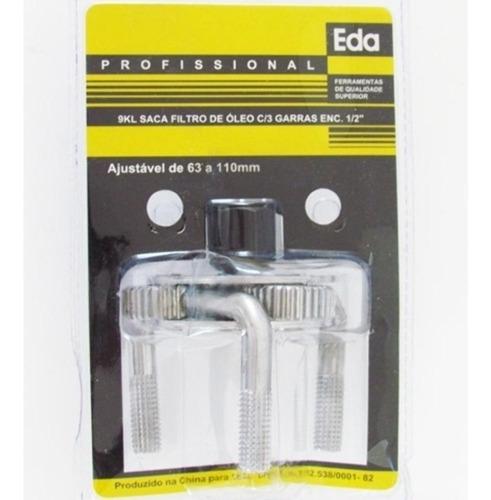 chave saca filtro de óleo 3 garras 1/2 63 a 110 mm eda-9kl