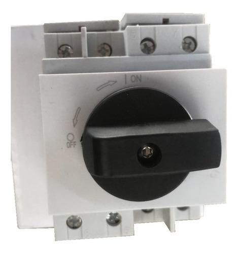 chave seccionadora rotativa 4 polo cc solar 1000vdc 32a