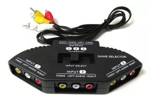 chave seletora áudio e vídeo - 03 entradas fêmeas  e uma saí