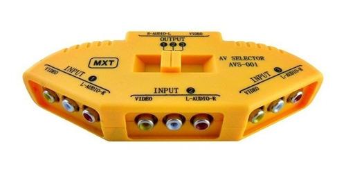 chave seletora audio video 3 x 1 saida chaveador rca mxt
