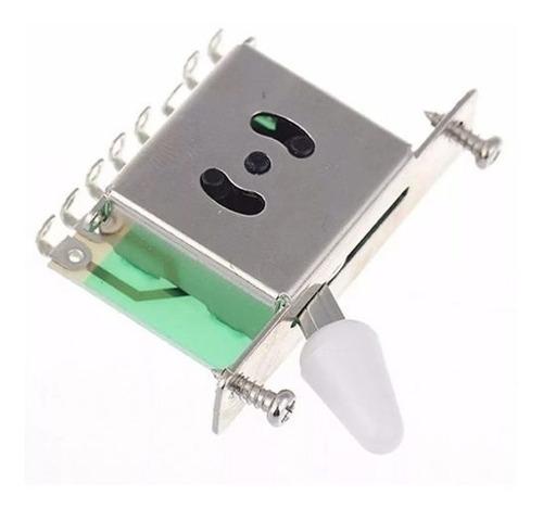 chave seletora para guitarra 5 posições c/ knob branco