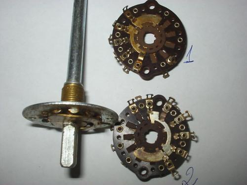 chave seletora radio antigo  3 posição e 2 seção dupla