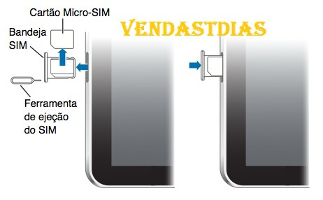 chave sim card chave extratora iphone e ipad
