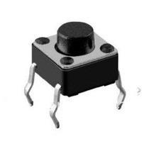 chave tactil 180º 6*6*5 mm 4 terminais - 100 pçs
