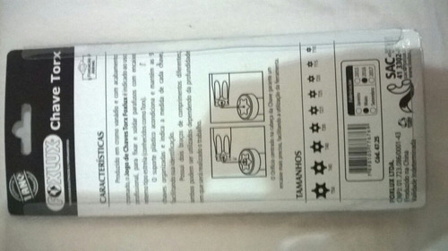 chave torx kit com 9 peças t10t15t20t25t27t30t40t45 e t50
