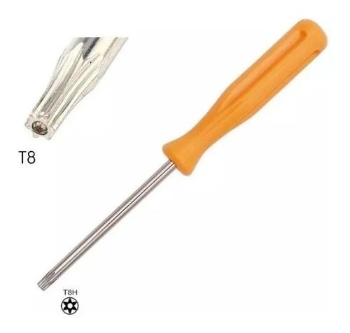 chave torx t8 com furo para abrir ps3 one controle do x360
