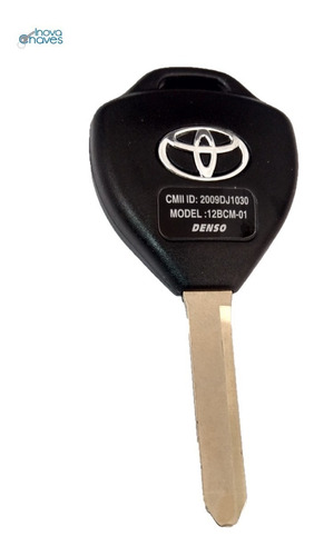 chave toyota corolla p/ alarme original completa até 2014