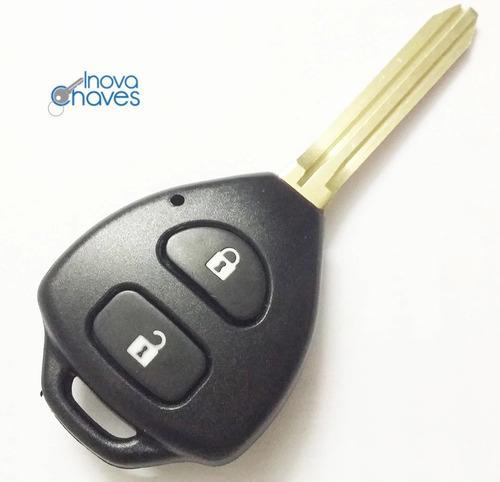 chave toyota etios 2 botões carcaça da chave