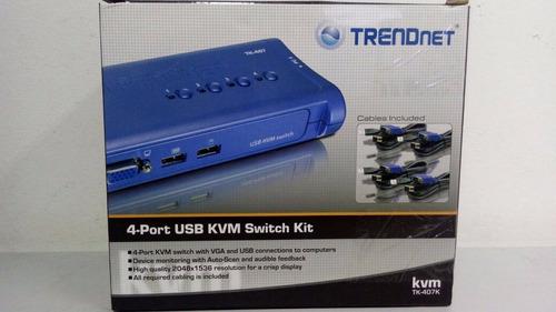 chaveador kvm trendnet usb 02 portas tk-407k