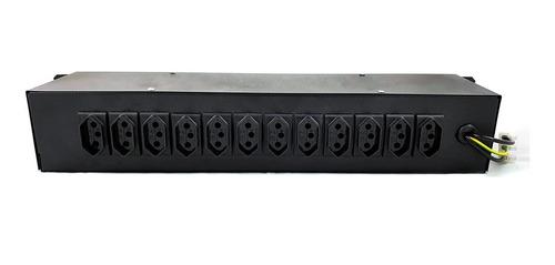 chaveadora 12 canais - indicador luminoso - régua de tomadas