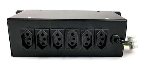 chaveadora 6 canais -indicador luminoso. régua de tomadas
