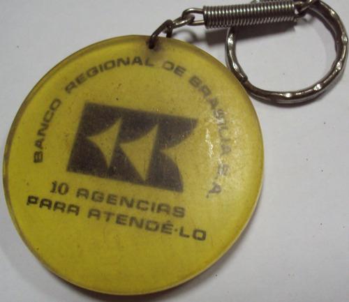 chaveiro acrílico - banco reginal de brasilia sa -  p3