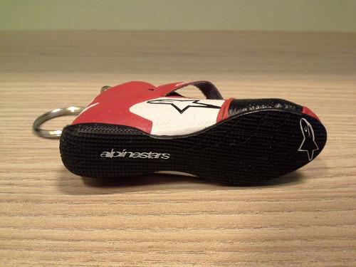 chaveiro alpinestars bota de piloto fórmula 1 stock car raro