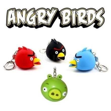 chaveiro angry birds minions monstros vario som led 50 peças