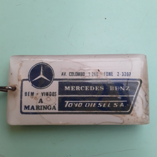 chaveiro antigo concessionária mercedes caminhão maringá