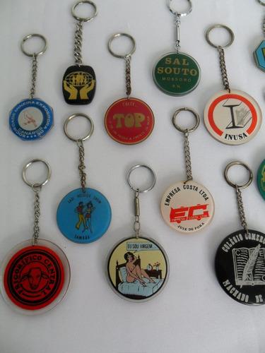 chaveiro antigo lote com 18 peças diversas para coleção