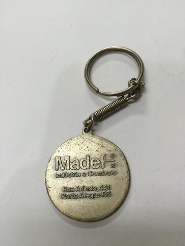 chaveiro antigo metal madef