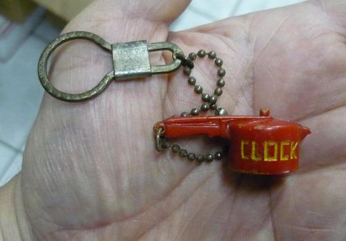 chaveiro  antigo  miniatura de panela clock.