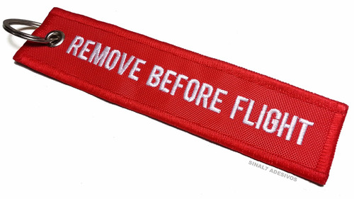 chaveiro aviação pilot remove before flight - bordado