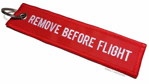 chaveiro aviação remove before flight - bordado