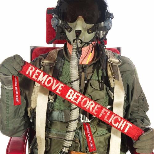 chaveiro aviação remove before flight e pilot - bordado