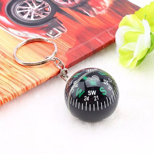 chaveiro bússola bola globo direcionamento orientação