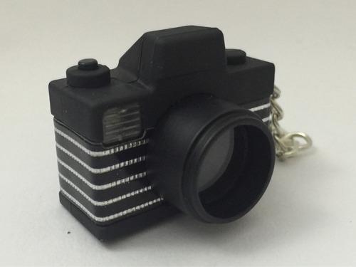chaveiro camera fotográfica com led e som - 1 unidade