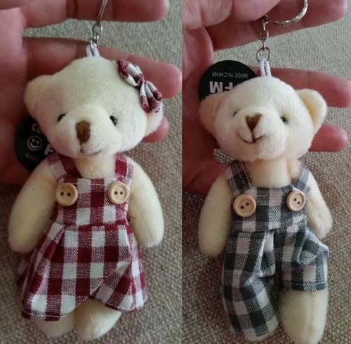 4fd55871347cd Chaveiro Casal Urso E Ursa De Pelucia Menino E Menina - R  38