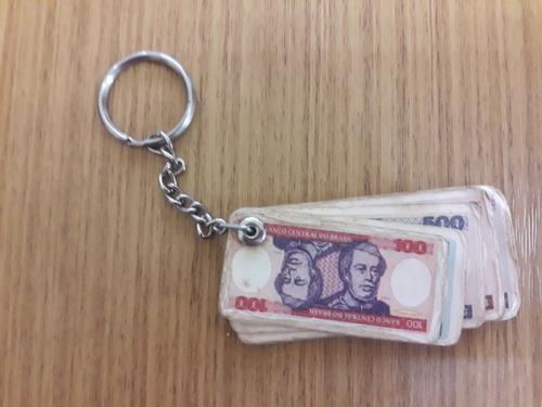 chaveiro cédula dinheiro moeda cruzeiros banco antigo raro