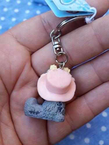 chaveiro charme p/ bolsas urso me to you - chapéu com flores