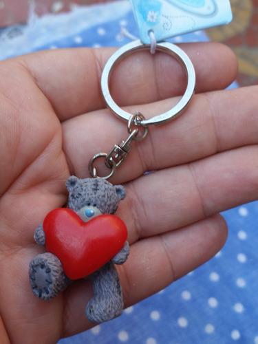 chaveiro charme p/ bolsas urso me to you - coração vermelho