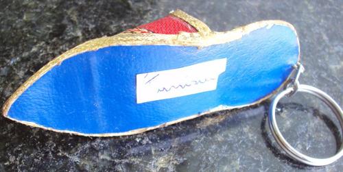 chaveiro - chinelo em tecido - tunisia - p30