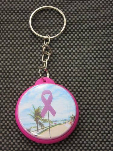 chaveiro com foto impressa outubro rosa