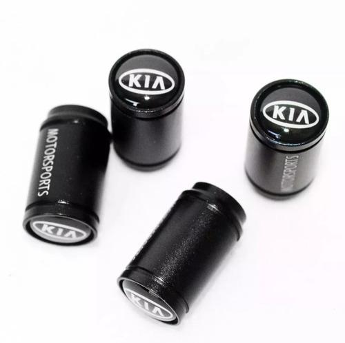 chaveiro cromado kia + kit bico valvula pneu tampa cerato
