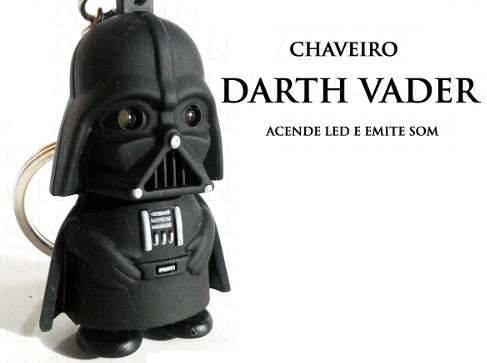 2a1053d92180e Chaveiro Darth Vader Star Wars Guerra Estrelas Geek Led Som - R  14 ...