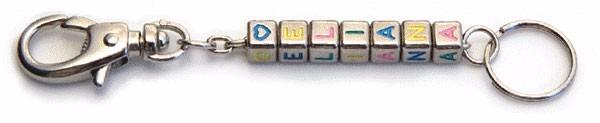 dd352aef537df Chaveiro Em Dados De Letras De Metal Personalizado Com Nome - R  20 ...